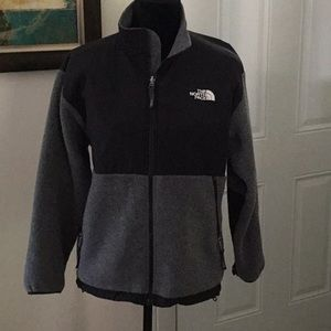 Grey and Black North Face Jacket